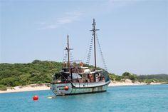 Angra Pequena at anchor - Ponta Torres, Inhaca Island, Mozambique - 2009