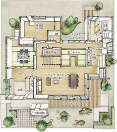 Japanese Modern House, Japanese Home Design, Japanese Interior, Japan Architecture, Watercolor Architecture, Architecture Design, Japan House Design, Sims House Design, Sims House Plans