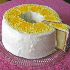 Find Delicious Baking & Breads recipes - Greek Lemon Cake Ref - 2672 - Page 1 Köstliche Desserts, Delicious Desserts, Yummy Food, Greek Lemon Cake Recipe, Cupcakes, Cupcake Cakes, Cake Recipes, Dessert Recipes, Allrecipes Desserts