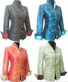 da862aa03 Charming Chinese Women's Silk Embroidery Jacket Coat Sz M L XL 2XL 3XL 4XL  | eBay $27.99