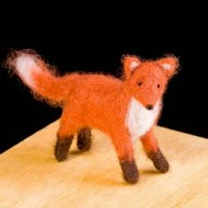 Red Fox Wool Needle Felting Craft Kit by WoolPets. Made in the USA.