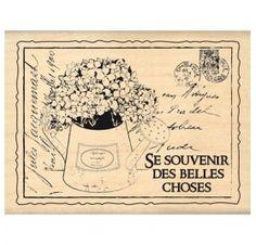 Tampon Caoutchouc - Florilèges Design - Bouquet D'hydrangeas
