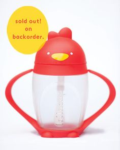 lollacup.. as seen on Shark Tank.. best sippy cup invention ever.. includes weighted flex straw that stays in liquid as cup is moved around! a must-have as soon as they're back in stock (approx Sept 2012..)