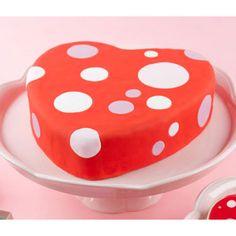 Polka Dot Valentine Cake