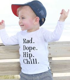 Rad Dope Hip Chill graphic tee - Little Beans Clothing. Hipster baby, baby boy clothes, toddler fashion. Pic  @thesaltlifetribe