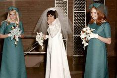 Vintage Wedding Photography, Vintage Wedding Photos, Vintage Bridal, 1960s Wedding, Wedding Fun, Vintage Bridesmaid Dresses, Bridal Dresses, Wedding Attire, Boyfriends