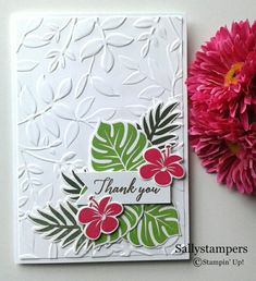 Tropical Chic Leaves. Layered Leaves Dynamic TIEF makes a lovely background. Independent Stampin' Up!® Demonstrator UK.