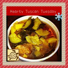 Come in on a Tuesday for our Hearty Tuscan Soup. Loaded with veggies and sausage! Tuscan Soup, Cucumber, Tuesday, Sausage, Veggies, Lunch, Beef, Dinner, Breakfast