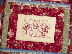 Items similar to Redwork Snowman Hand Embroidery Linen Tea Towel Kit on Etsy Christmas Embroidery Patterns, Hand Embroidery Patterns, Embroidery Stitches, Machine Embroidery, Christmas Quilting, Stitching Patterns, Butterfly Embroidery, Towel Embroidery, Folk Embroidery