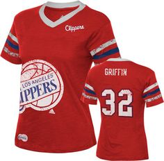 Blake Griffin Los Angeles Clippers Toddler Girls adidas Player Replica Jersey Tee