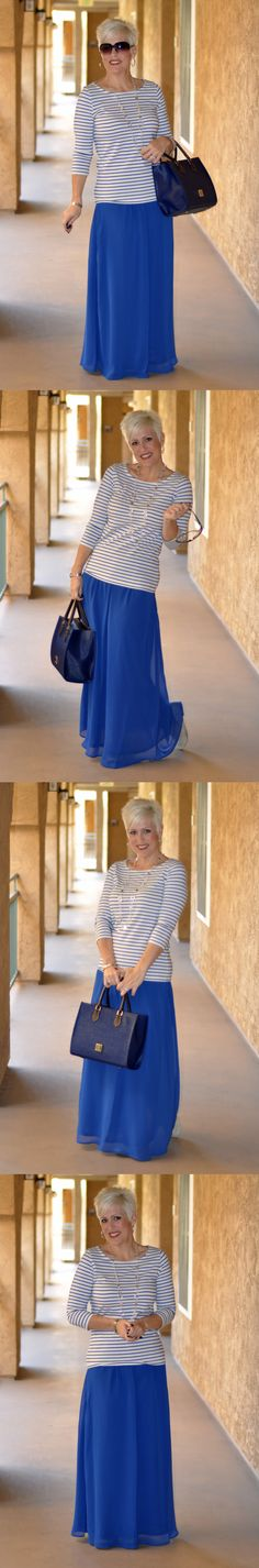 Be Inspired :: Maxi Skirt :: Royal Blue :: Choose everyday to Dress With Purpose! www.dresswithpurpose.com