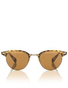 Tortoiseshell Frame Clubmaster Sunglasses   Oliver Peoples   Avenue32