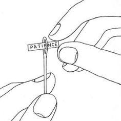 Desejo do dia {principalmente para quem tem que colocar mais de duas linhas na agulha ~ de uma vez só} #clubedobordado #pacient #embroidery #needle #bordado #illustration #advice #handmade #workinprogress ***ilustração de autor desconhecido/ fonte: tumblr