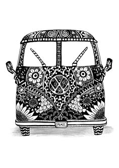Print of my Zentangle Inspired camper