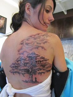 Tree Tattoo Designs for Shoulder