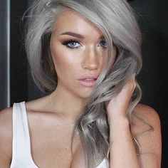 Young Women Are Dyeing Their Hair Gray Causing 'Granny Hair' to Be the Latest Hair Trend