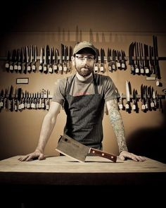 "After working for a decade as a chef in San Francisco, Galen Garretson shifted his focus to knives, sharpeners, and accessories with the opening of Town Cutler, his culinary knife shop. ""The guys I worked with had expensive knives, but they would always be dull,"" says Garretson. ""Even my own knives were dull."" In his narrow storefront in Nob Hill, Garretson spends about half his time carefully sharpening knives with a Japanese whetstone and a leather razor strop //"
