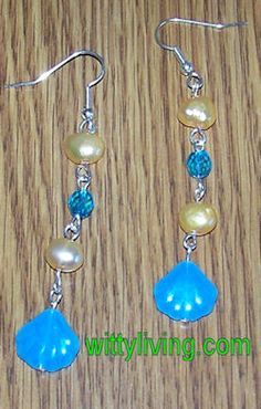 clams pearls beaded earrings project