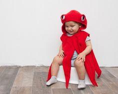 Kinderkostüm: Rote Krake, süßes Kostüm für Fasching und Karneval / costume for children: red octopus made by oKidz via DaWanda.com