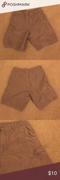 Men's brown cargo shorts Only worn a couple of times. Look brand NEW! In great shape. Cubavera Shorts Cargo