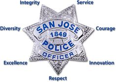 The San Jose Police Department, Protecting San Jose, California, 10th largest city in America, Capital of Silicon Valley.