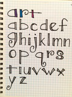 Fun lettering for journaling.
