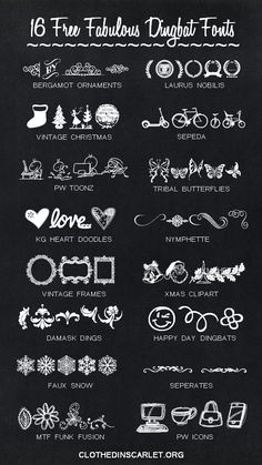 Free Fabulous Dingbat Fonts Dingbat fonts are just so cool! Here are 16 free fabulous dingbat fonts to make your images sizzle.Dingbat fonts are just so cool! Here are 16 free fabulous dingbat fonts to make your images sizzle. Alphabet Police, Police Font, Fancy Fonts, Cool Fonts, Photoshop, Stampin Up Anleitung, Web Design, Vector Design, Type Design