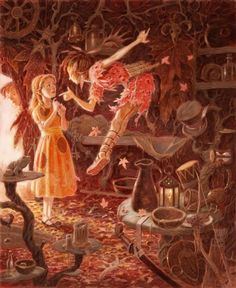 Peter Pan in Scarlet by Geraldine McCaughrean; Illustrated by David Wyatt