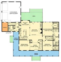 Southern Sweetheart With Wraparound  2,583 sq. ft.  Bedrooms: 4  Full Bathrooms: 3