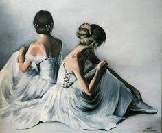 Ballerina painting by Agata Mikulska-Sienkiewicz, acryl on canvas,100x120 cm