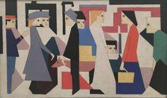 Chris Beekman, Steam Tram Top, oil on canvas, 1918, Stedelijk Museum, Amsterdam