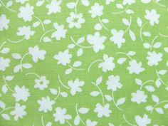 5 Yards Waverly Fabric Lime Green Melissa Flowers
