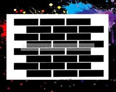 Brick Pattern 03 Airbrush Stencil Template   eBay