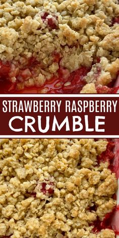 Homemade Desserts, Best Dessert Recipes, Desert Recipes, Vegan Recipes Easy, Raspberry Crumble, Fruit Crumble, Crumble Recipe, Easy Summer Desserts, Fun Desserts