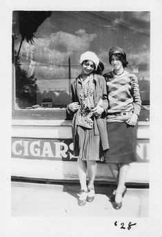 Too-cute African American flappers.
