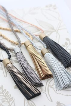 Our luxe leather tassel necklaces are elegant, chic and perfect for every day wear. Try layering with our other necklaces or wear as a stand alone piece.  Featuring a mix of 4mm Czech seed beads and antique brass rolo chain. This long style necklace isapprox 1000mm (total length) Leather tassel is approx 10mm x16mm