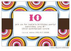Personalize invitation to fit any occasion.