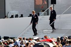 Prince William, Duke of Cambridge, and Prince Harry attend the official ceremony for the Commemoration of the 100th Anniversary of Vimy Battle on April 9, 2017 in Vimy, France.