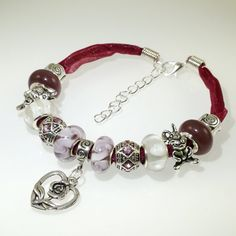 Hey, I found this really awesome Etsy listing at https://www.etsy.com/listing/263536678/european-charm-bracelet-handmade-flower