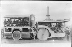 The modified steam roller is actually a truck, Sentinel of the 1920's and was…