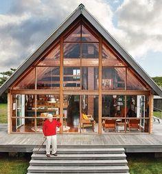 Glass Wall Open House Design