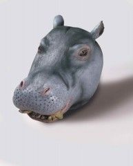 Deluxe Latex Animal Mask - Hippo