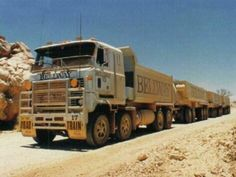 These Macks were used to cart crushed rock from near Fitzroy Crossing W. to Derby Air Base in the Mack Trucks, Toy Trucks, Semi Trucks, Train Truck, Road Train, Big Girl Toys, Girls Toys, Trailers, Armored Truck