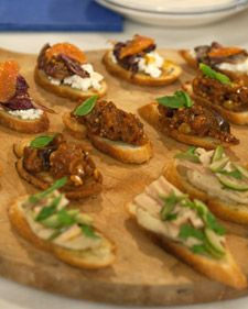 These elegant crostini are sure to impress guests at any party.  Also try: Eggplant Caponata Crostini, Crostini with Fresh Ricotta and Grilled Radicchio