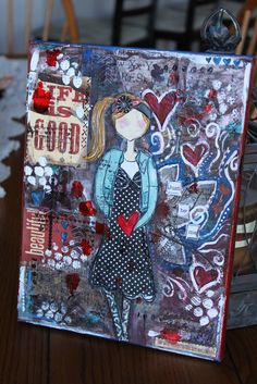 Just Be Me- Mixed Media Canvas