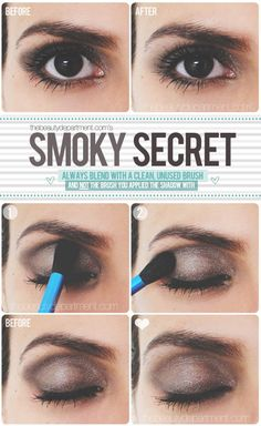 Perfect Smoky Eye Shadow Blending Tutorial. [the beauty department]