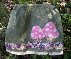 Polka Dot Mushroom Skirt by FreckledChicken on Etsy, $32.00