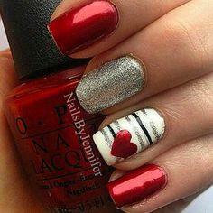 12 Valentine's Nail Designs for Heavy Romance - Nail Art HQ