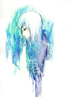 art, blue, cute, deviantart, drawing