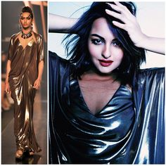 Sonakshi Sinha in our Metallic Jersey Gown | 'Memphire' - Autumn Winter 2014 Collection Shot by Maul Gohel Styled by Hasnain Patel